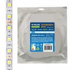 Лента светодиодная [5 м] Volpe ULS-Q ULS-Q323 2835-60LED/m-8mm-IP65-DC12V-4,8W/m-5M-6500K катушка в герметичной упаковке